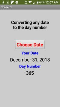 Converting any date to the day number screenshot 5