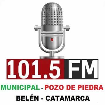 FM MUNICIPAL POZO DE PIEDRA 101.5 MHZ poster
