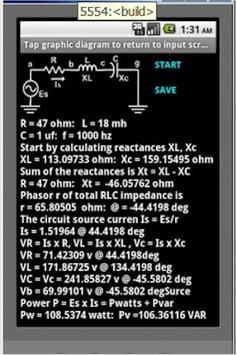 AC Series Circuits screenshot 2