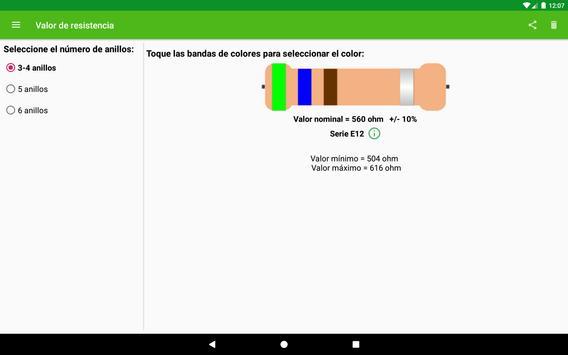 Cálculo del valor de resistencia captura de pantalla 5