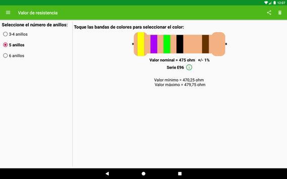 Cálculo del valor de resistencia captura de pantalla 6