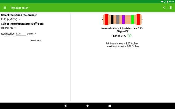 Resistor color screenshot 3