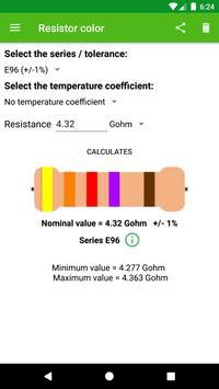 Resistor color screenshot 2