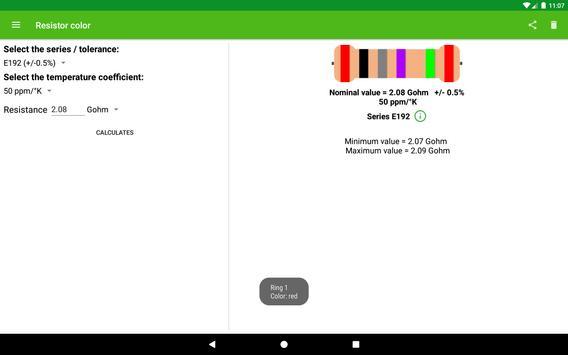 Resistor color screenshot 4
