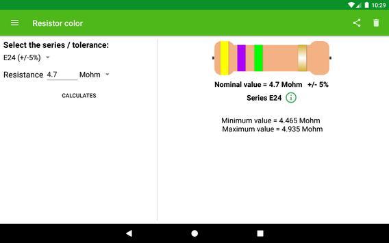 Resistor color screenshot 5