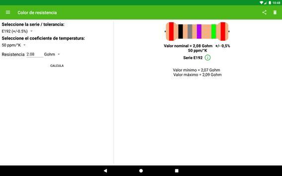 Cálculo del color de la resistencia. captura de pantalla 3