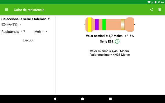 Cálculo del color de la resistencia. captura de pantalla 5