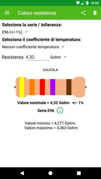 Calcolo colore resistenza تصوير الشاشة 2