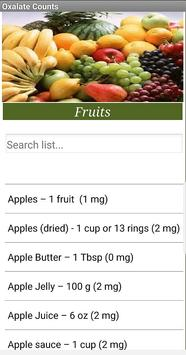 Oxalate Food Counts screenshot 2