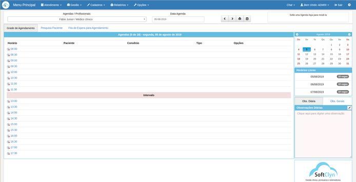 SoftClyn - Gestão Clínica e Prontuários screenshot 1