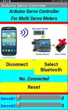 Arduino Bluetooth Multi Servo control poster