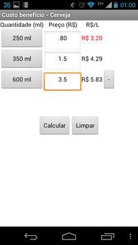Custo Benefício - Cerveja screenshot 3