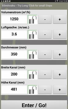 KlimAwahu - Luftleitungen berechnen screenshot 3