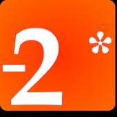Algebra Negative Numbers - +*/ icon