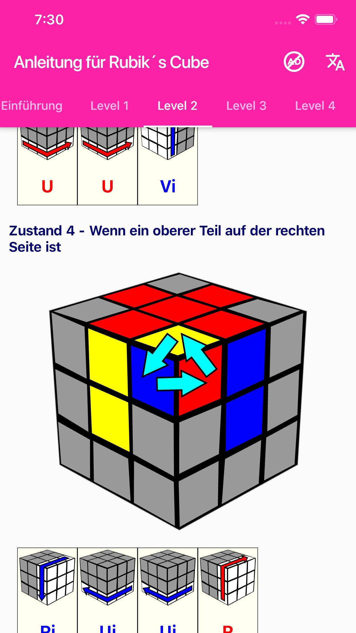 rubics cube lösung