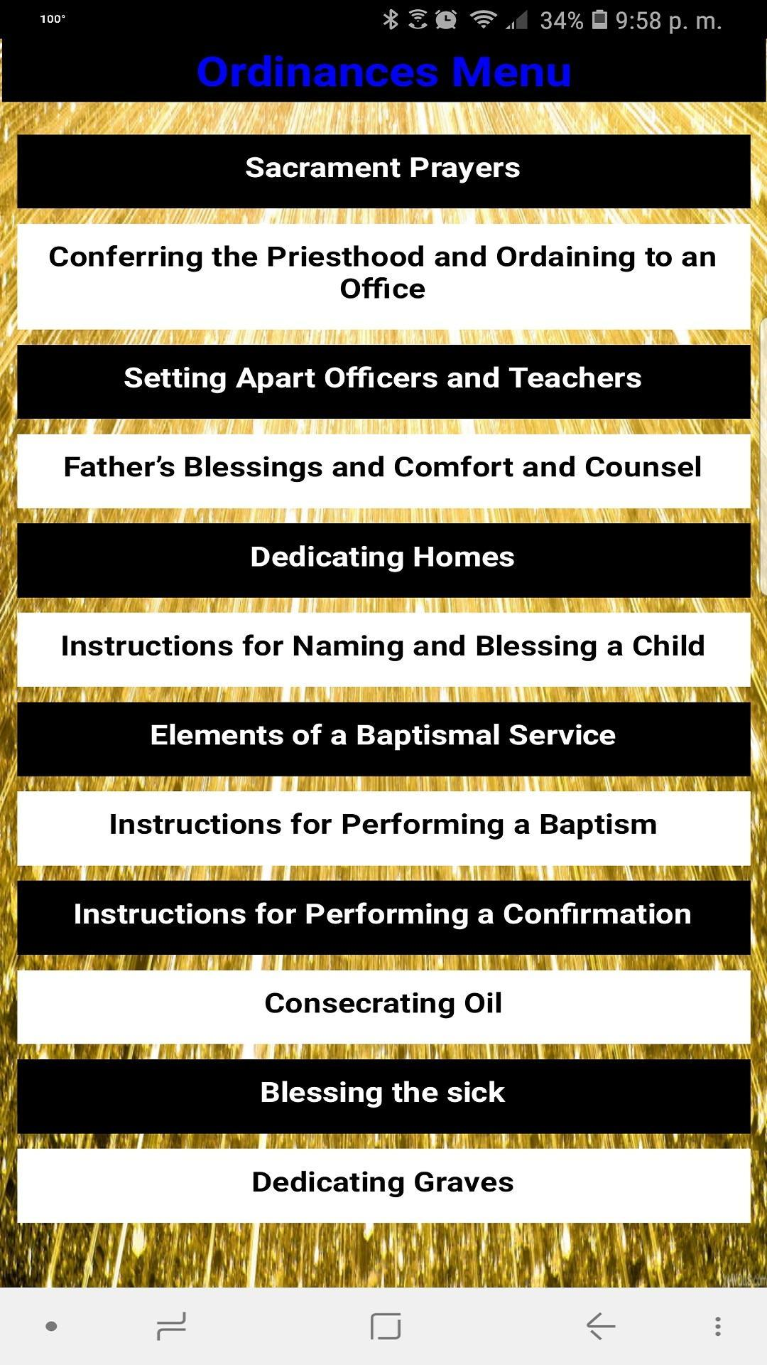 LDS Ordinances & Tools for Android - APK Download