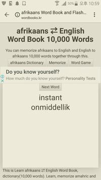 Learn Afrikaans to English Word Book screenshot 1