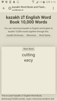 Learn Kazakh to English Word Book poster