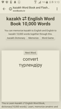 Learn Kazakh to English Word Book screenshot 2