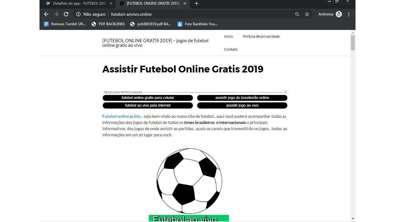 Futebol online gratis