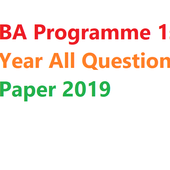 Ba programme 1st year all question paper 2019 icon