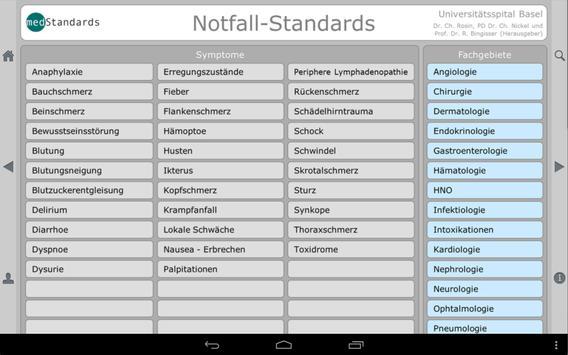 Notfallstandards free screenshot 4