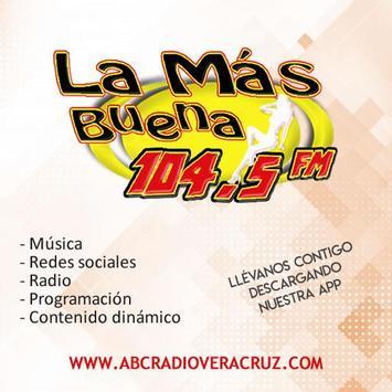 La Más Buena 104.5 FM poster
