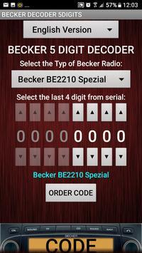 Becker 5Digit Radio Code screenshot 3