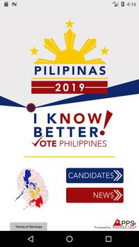 PILIPINAS 2019 - Know your Candidate poster