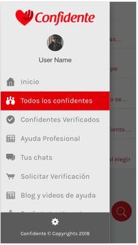Confidente screenshot 1