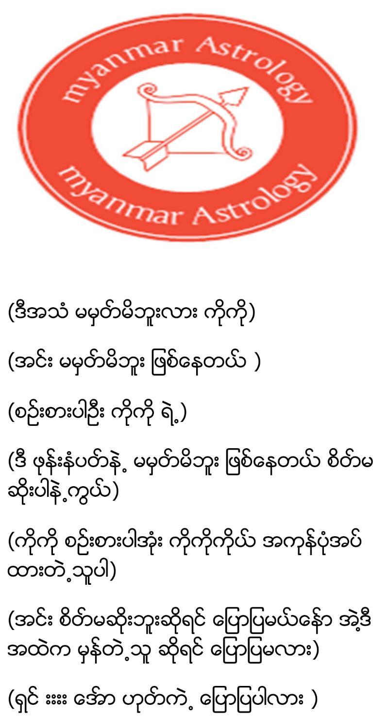 Myanmar Astrology poster