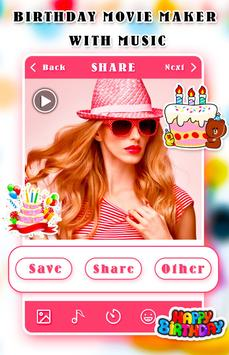 Birthday Movie Maker With Music poster