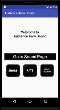 Audience Aww Sound poster
