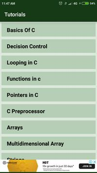 C Language screenshot 1