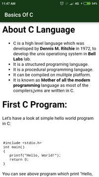 C Language screenshot 2