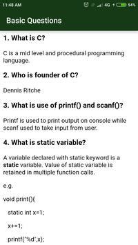 C Language screenshot 4