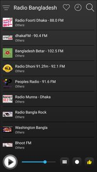 Bangladesh Radio Stations Online - Bangla FM AM screenshot 3