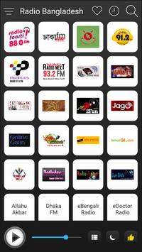 Bangladesh Radio Stations Online - Bangla FM AM poster