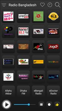 Bangladesh Radio Stations Online - Bangla FM AM screenshot 1
