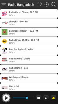 Bangladesh Radio Stations Online - Bangla FM AM screenshot 2