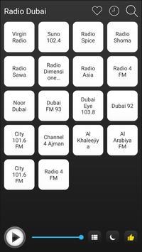 Dubai Radio Stations Online - Dubai FM AM Music poster