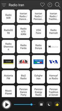 Iran Radio Stations Online - Iran FM AM Music poster