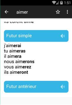 تعلم الفرنسية مع مُصرف جميع الأفعال بالنطق screenshot 3