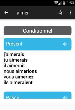 تعلم الفرنسية مع مُصرف جميع الأفعال بالنطق screenshot 4