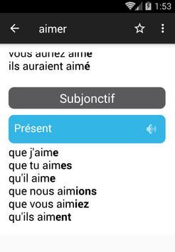 تعلم الفرنسية مع مُصرف جميع الأفعال بالنطق screenshot 5