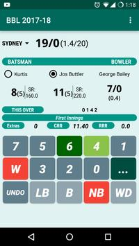 Cricket Scorer screenshot 1