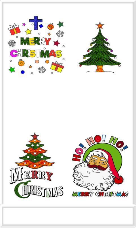 Merry Christmas Colouring poster