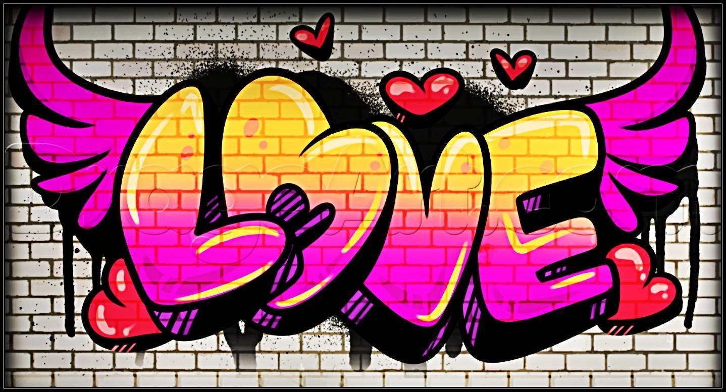 Картинка я люблю тебя граффити