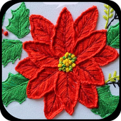 Learn to embroider Embroidery by hand and machine icon