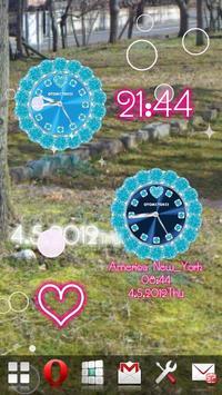 [FREE]CUTE QLOCK Blue Diamond screenshot 7